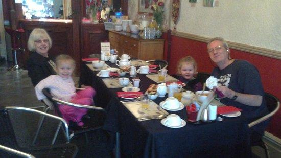 The Manhattan: The Girls having Breakfast, With Grandad & Nanna Renee