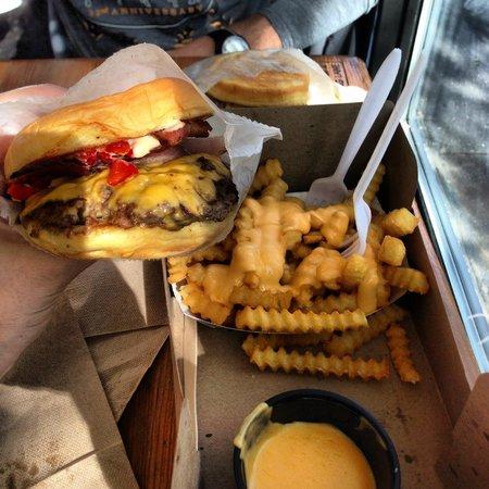 Shake Shack: Smoke Shack with Cheese Fries ... aww yeah!