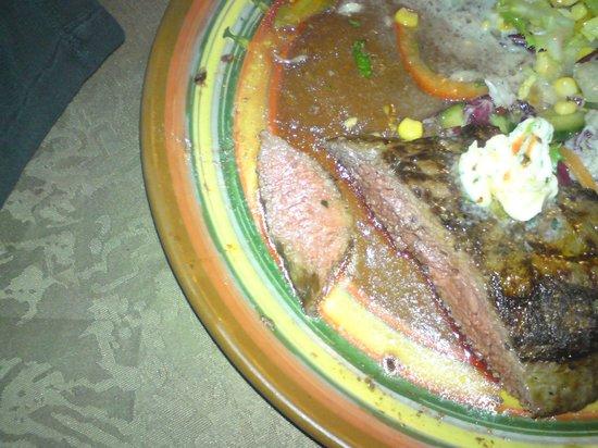 Restaurant Texas : Steak medium gebraten und super lecker