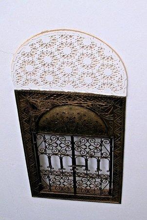 Riad Khabia : Detail on the wall