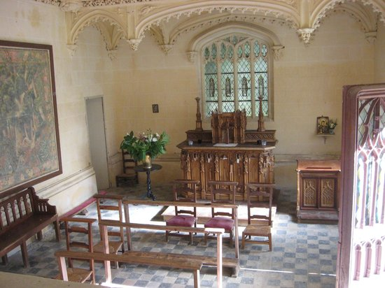 Chateau de la Bourdaisiere : Interior of the separate Chapel on the grounds.