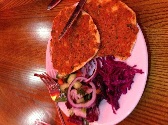 Istanbul BBQ: Mini Lahmacun. Lovely starter.
