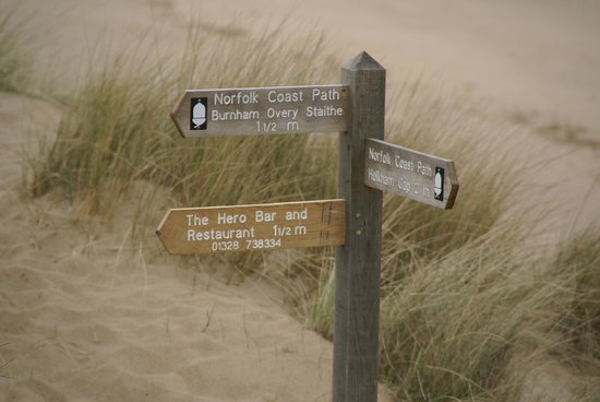 The Hero: this way from overy beach