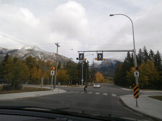 The Drake Inn : Pedestrian (mono cyclist) crossing