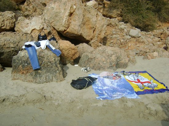 Playa Cala Salada: postazione sole ahaha