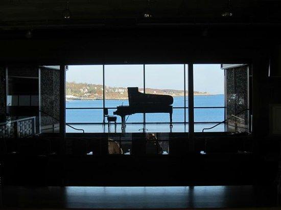 Shalin Liu Performance Center: behind the Steinway...