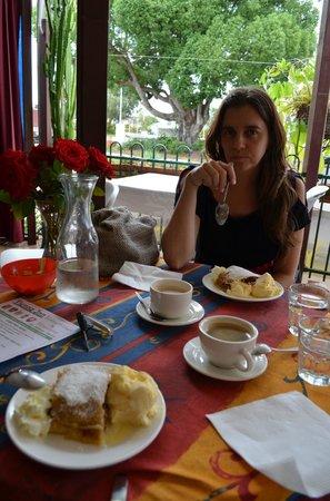 Vienna Inn: Coffe and apple strudle
