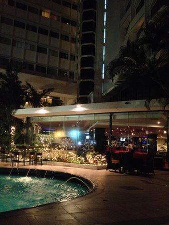 Continental Hotel & Casino : Vista do bar e piscina