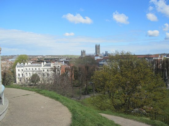 Dane John Gardens April 2012 View of the Cathedral