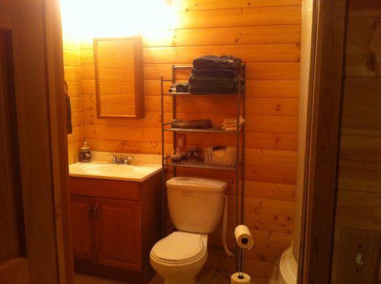 Alaska's Wasilla Bed and Breakfast: woods view bathroom