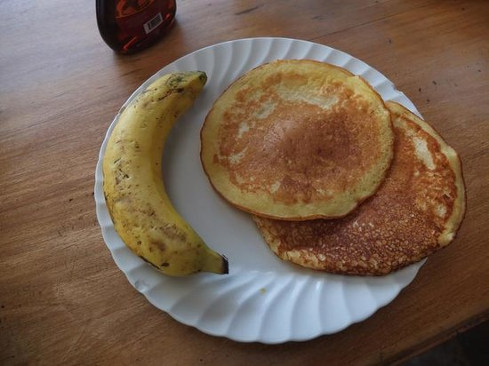 A Place to Stay Hostel: Big pancakes for breakfast, yummy!