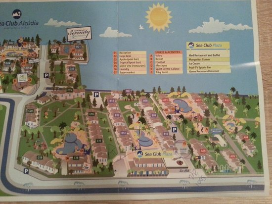 Seaclub Mediterranean Resort: План территории отеля