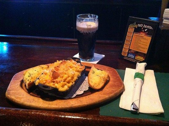 Ned Devine's Irish Pub & Sports Bar: One of our dishes with a cold pint of Guinness