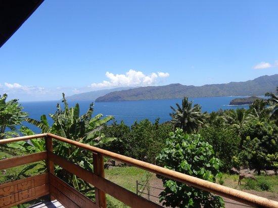 Hanakee Hiva Oa Pearl Lodge : Vue depuis la terrasse du bungalow