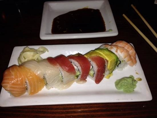 Kenichi Pacific Sushi & Pacific Rim: Rainbow Roll with 5 different kinds of fish
