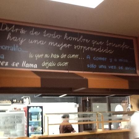 Restaurante Mi Tierra: Frases populares con un toque de humor