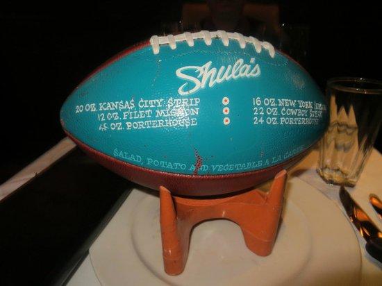 Sheraton Grand Chicago: Shula's Steakhouse football