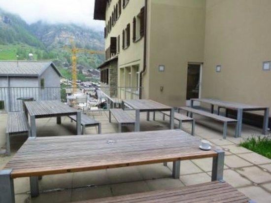 Zermatt Youth Hostel : Terrace