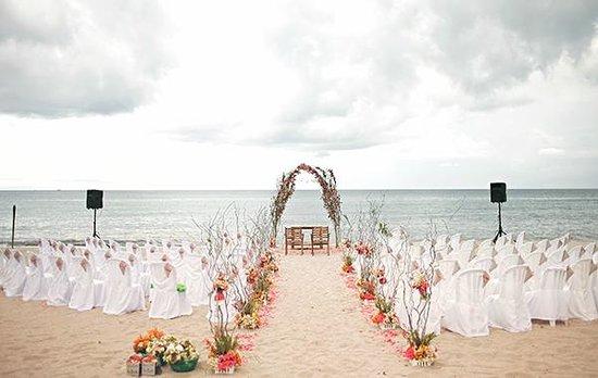 Virgin Beach Resort Beachfront Wedding Ceremony