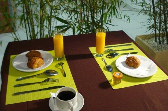 Hôtel La Palmeraie : petit dejeuner
