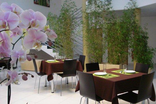 Hôtel La Palmeraie : salle petit dejeuner