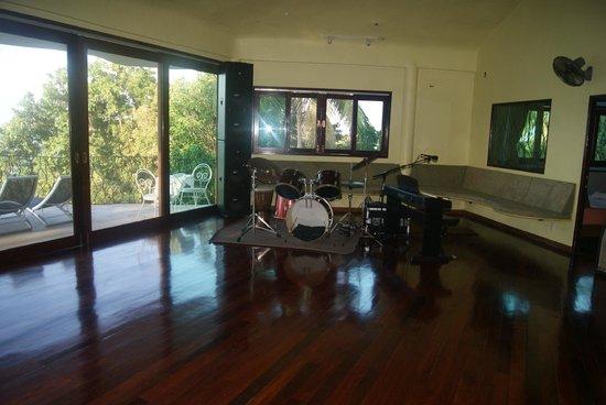 Monkey Flower Villas : instrus de musique dans le salon