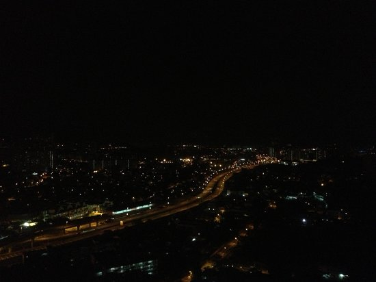 DoubleTree by Hilton Kuala Lumpur: night view from the room, my phone camera did not do justice to the view.