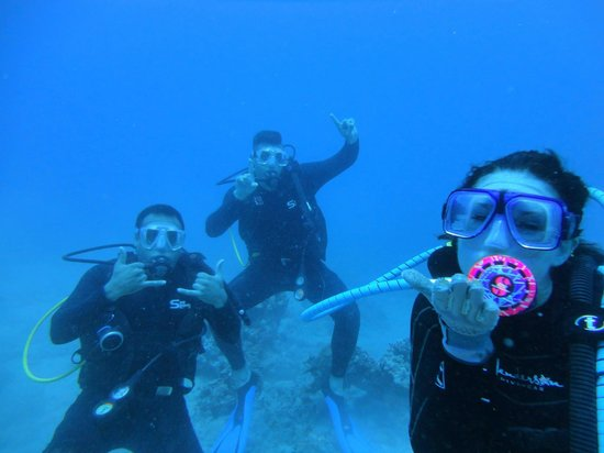 Rainbow Scuba Hawaii: Happy dance under water!