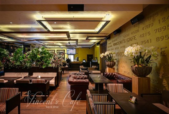 Stylish interior picture of vincent s cafe bar diner