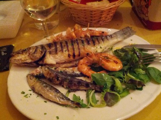 Hostaria Dei Artisti: Secondo di pesce, piatto ricco e gustoso
