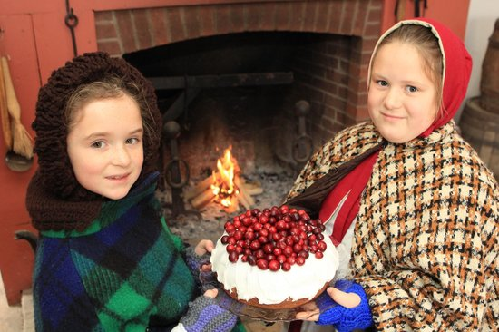 Westfield Heritage Village : two young girls inside one of the historic homes
