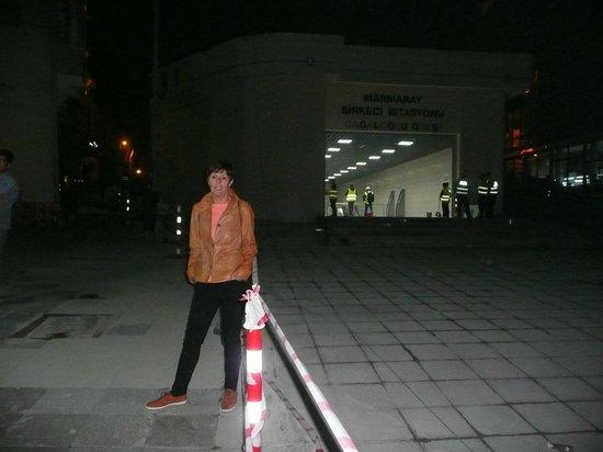 Levni Hotel & Spa : New Marmaray station outside hotel entrance.