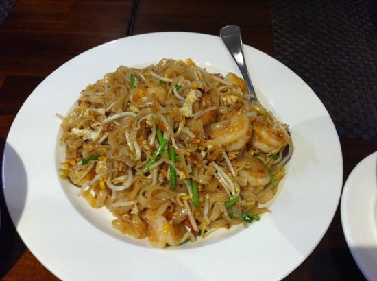 Pad thai with prawns fotograf a de bluelephant thai for Australian fusion cuisine