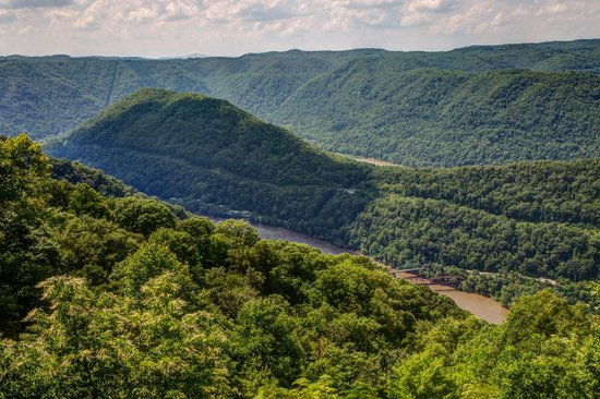 Grandview State Park: View from Upper Turkey Spur Overlook
