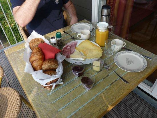 Terherne Haven : Ontbijt op het balkon