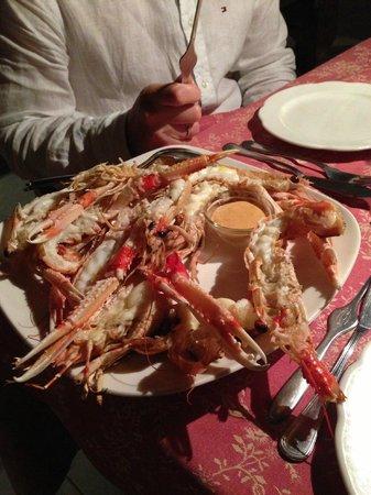 La Ruota: Grilled seafood