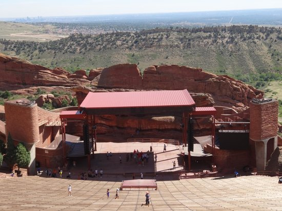 Red Rocks Park and Amphitheatre: From the top of the Amphitheater