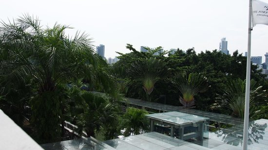 Hotel Fort Canning: View from balcony