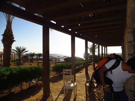 Canyon Estate Dahab Beach Hotel Residence : View from our room,