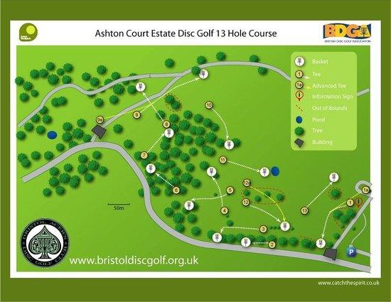 Ashton Court Disc Golf Course : Course Map