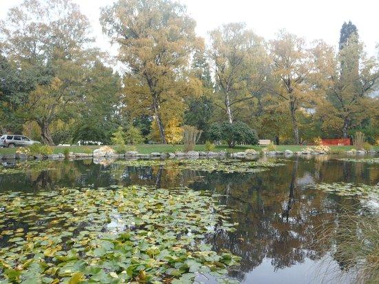Queenstown Garden : Lago nos jardins