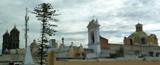 Hostel Casona Poblana: Vistas desde la terraza del hotel