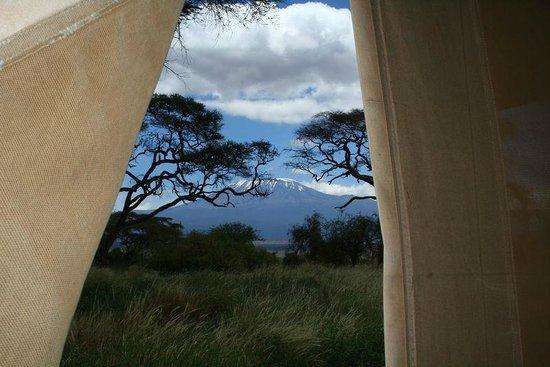 Sentrim Amboseli: Tent view - Kilimanjaro
