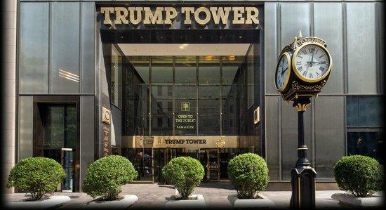 Trump International Hotel and Tower New York: Entrada y famoso reloj