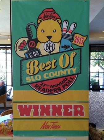 Panolivo: 2013 Best of SLO County Award