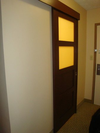 Holiday Inn Bloomington: unique bathroom sliding door