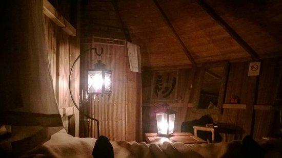 Parc de la Belle : Cabane intérieure