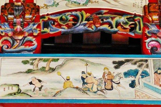 Han Jiang Ancestral Temple: Wall paintings