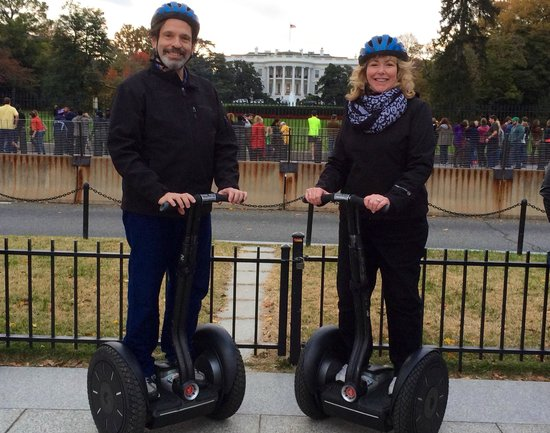 Private DC Segway Tours: Mark and Donna on Segway Tour in Washington DC