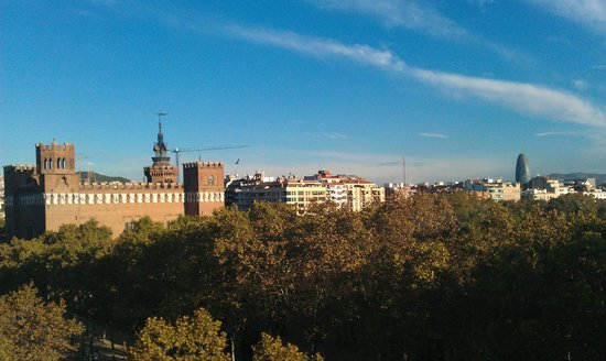 K+K Hotel Picasso: Aussicht von der Dachterrasse